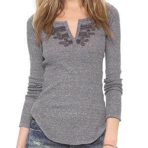 We The Free People Battalion Grey Thermal Top XS